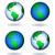 aarde · globes · ingesteld · bronzen · zwarte · oceaan - stockfoto © freesoulproduction