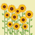 vector sunflower greeting card background stock photo © freesoulproduction