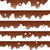 vector set of seamless chocolate borders stock photo © freesoulproduction