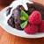 chocolat · muffin · mise · au · point · sélective · framboises · crème · chambre - photo stock © Freila