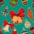 naadloos · kerst · patroon · kerstmis · bal · speelgoed · sneeuwvlokken - stockfoto © frescomovie