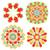 monochrome doodle flowers stock photo © frescomovie