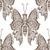 stylized brown butterfly stock photo © frescomovie