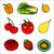コレクション · 果物 · 液果類 · 抽象的な · ベクトル · デザイン - ストックフォト © frescomovie
