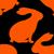 rabbit silhouette pattern stock photo © frescomovie