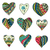 hand drawn colored hearts stock photo © frescomovie