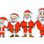 セット · 面白い · 漫画 · サンタクロース · サンタクロース - ストックフォト © frescomovie