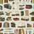 illustraties · boeken · naadloos · monochroom · patroon - stockfoto © frescomovie