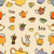 seamless pattern of tea and coffee objects stock photo © frescomovie