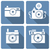 vector · vierkante · retro · camera · icon · gedetailleerd - stockfoto © frescomovie