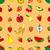 aranyos · dinoszauruszok · gyümölcsök · vektor · görögdinnye · alma - stock fotó © frescomovie
