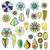 цветочный · украшение · Элементы · стилизованный · традиционный · цветы - Сток-фото © frescomovie