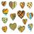 set colored hearts stock photo © frescomovie