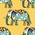 elefántok · indiai · stílus · végtelenített · textúra · stilizált - stock fotó © frescomovie