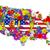 térkép · Egyesült · Államok · virágok · üzlet · város · gyerekek - stock fotó © frescomovie