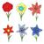 bloemen · collectie · geïsoleerd · witte · bloem - stockfoto © frescomovie