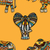 elefántok · vektor · végtelenített · textúra · stilizált · indiai - stock fotó © frescomovie