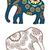dessinés · à · la · main · ethniques · éléphant · main · livre - photo stock © frescomovie