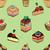 koffie · gebak · patroon · bakkerij · goederen - stockfoto © frescomovie