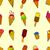 colorat · drăguţ · elefantii · vector - imagine de stoc © frescomovie