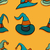 pattern with witch hats stock photo © frescomovie