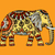 traditional · indian · elefant · tipic · decorare · steag - imagine de stoc © frescomovie
