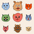 adorable cartoon cats faces stock photo © frescomovie