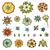 vector · collectie · bloemen · bladeren · bloem · voorjaar - stockfoto © frescomovie