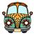 hippi · régi · autó · mini · furgon · szeretet · zene - stock fotó © frescomovie