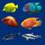 набор · тропические · рыбы · изолированный · синий · жизни · рыбалки - Сток-фото © frescomovie