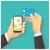 手 · 携帯電話 · デザイン · スタイル · 指 - ストックフォト © frescomovie