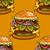 cartoon style hamburgers stock photo © frescomovie