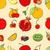リンゴ · 梨 · 葉 · カラフル · 緑の葉 - ストックフォト © frescomovie