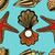 seashells and starfish seamless pattern stock photo © frescomovie