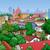 kisváros · tájkép · illusztráció · felülnézet · fa · épület - stock fotó © fresh_7266481
