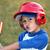 ritratto · ragazzo · mazza · da · baseball · rosso · casco · giovani - foto d'archivio © Freshdmedia