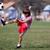 jongen · spelen · voetbal · park · authentiek · actie - stockfoto © Freshdmedia