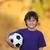 fiatal · srác · láb · futballabda · fehér · gyermek · cipők - stock fotó © freshdmedia