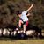 boldog · fiatal · srác · ugrik · játszik · park · copy · space - stock fotó © Freshdmedia