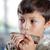 ragazzo · giocare · armonica · giovani · musicista · camera · da · letto - foto d'archivio © Freshdmedia