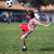 garçon · jouer · football · football · parc · paysage - photo stock © Freshdmedia