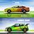 digital · vector · amarillo · rojo · verde · sedán - foto stock © frimufilms