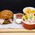 frango · assado · peixe · burger · sanduíche · profundo - foto stock © frimufilms