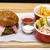 vis · hamburger · sandwich · diep - stockfoto © frimufilms