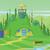 セット · 孤立した · 木 · デザイン · ツリー · 森林 - ストックフォト © frimufilms