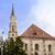 katolikus · katedrális · város · Romania · templom · fehér - stock fotó © frimufilms