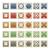 広場 · スタンプ · 異なる · パターン · 色 - ストックフォト © frostyara