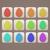 húsvét · ünnep · ikon · szett · tojás · alakú · árnyék - stock fotó © frostyara
