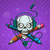 kafatası · sanatçı · baskı · kulaklık · kalem · pikap · iğnesi - stok fotoğraf © frostyara