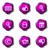 набор · веб-иконы · 20 · фиолетовый - Сток-фото © Fyuriy